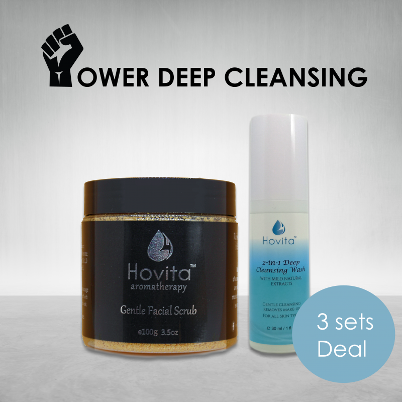 Hovita Gentle Facial Scrub and 2-in-1 Deep Cleanser